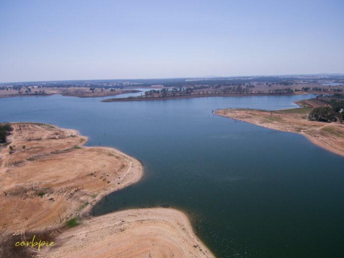 Meridan and Token Island Lake Eppalock drone 9