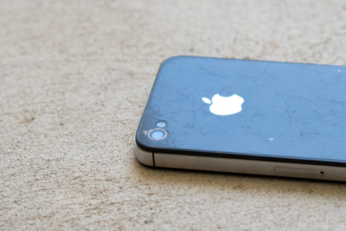 iPhone 4s back close up