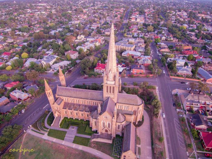 Sacred Heart Cathedral Bendigo drone 10
