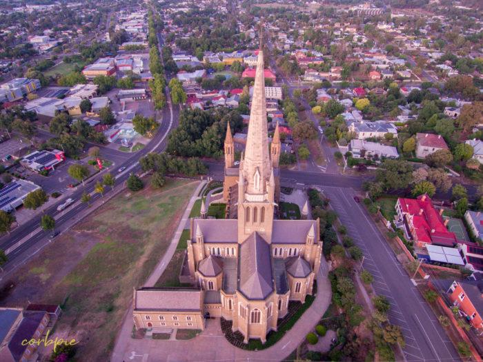 Sacred Heart Cathedral Bendigo drone 11