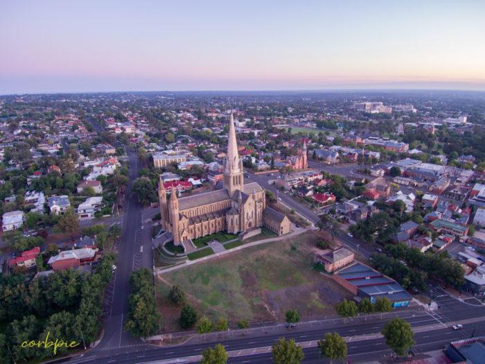 Sacred Heart Cathedral Bendigo drone 16