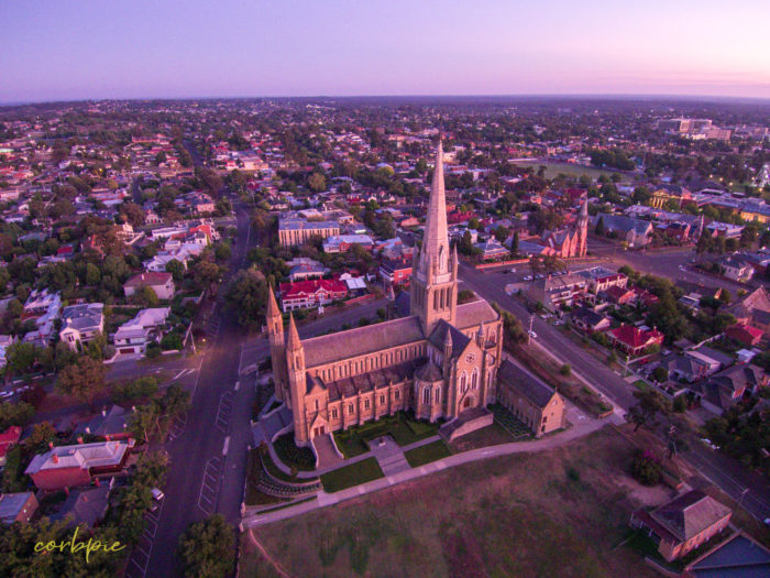 Sacred Heart Cathedral Bendigo drone 4