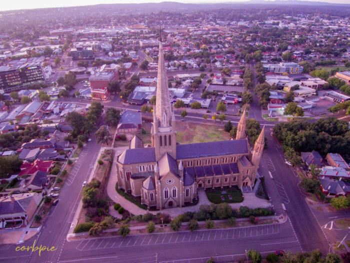 Sacred Heart Cathedral Bendigo drone 8