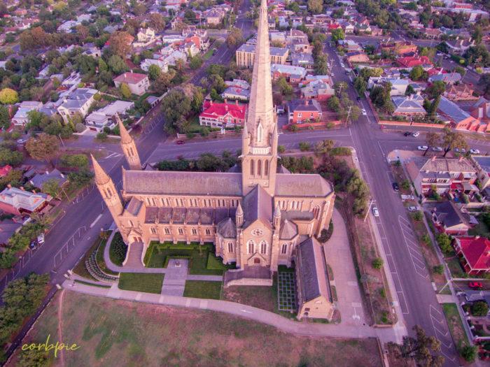 Sacred Heart Cathedral Bendigo drone 9