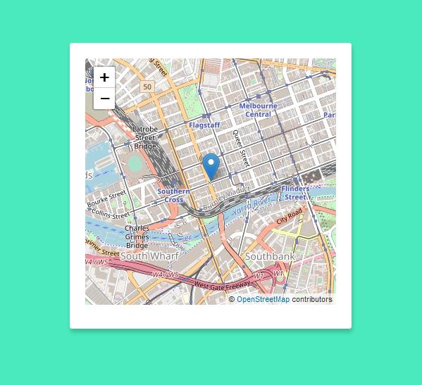 leaflet latitude and longitude marker php